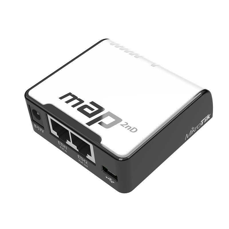 Mikrotik mAP Black, White Power over Ethernet (PoE)